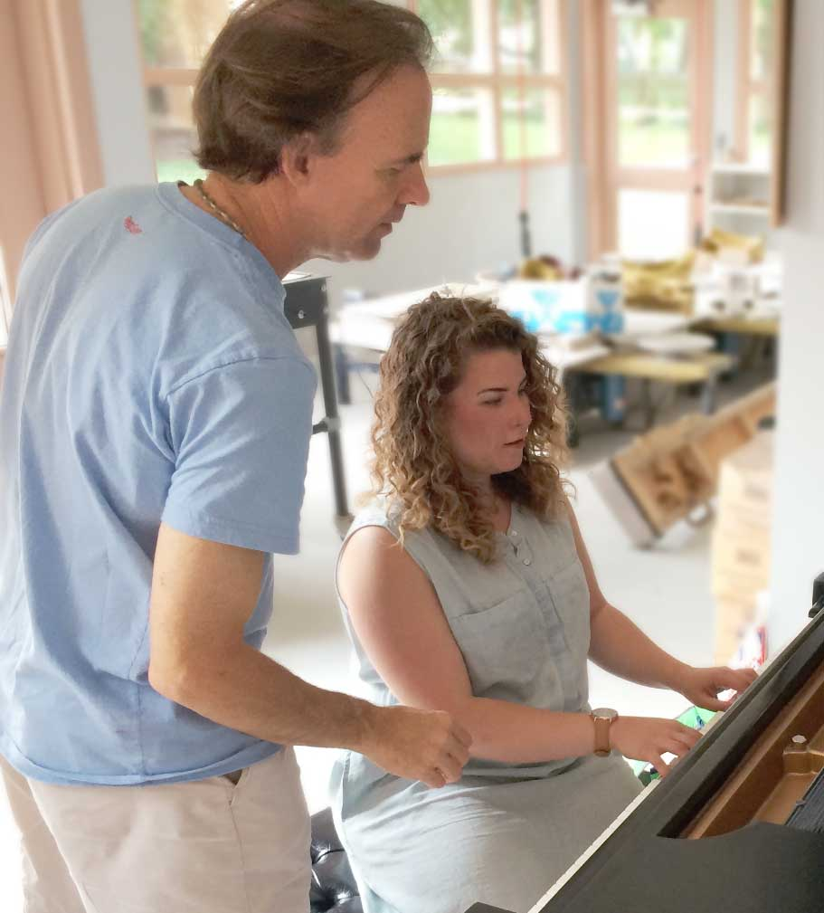 piano lesson with Tom McDermott